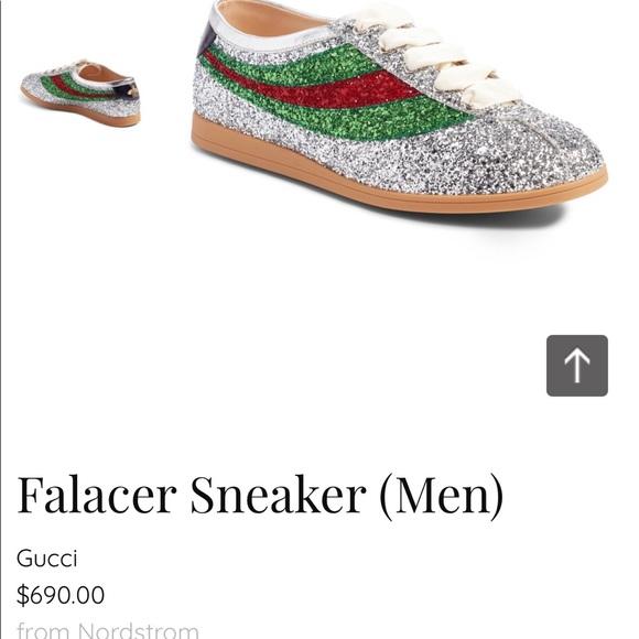 8f6135f5380 Gucci Men s Falacer Glitter Sneaker 6 1 2